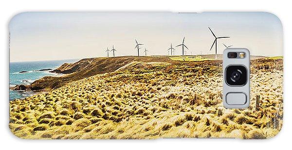 Wind Power Galaxy Case - Windswept Tasmania by Jorgo Photography - Wall Art Gallery