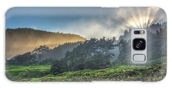 Galaxy Case featuring the photograph Windswept Trees On The Oregon Coast by Pierre Leclerc Photography