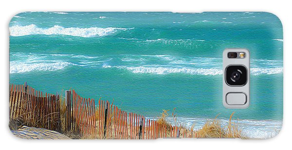 Windy Day On Lake Michigan Galaxy Case