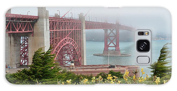 Windy Foggy Golden Gate Bridge  Galaxy Case