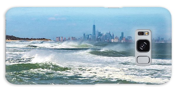 Windy View Of Nyc From Sandy Hook Nj Galaxy Case