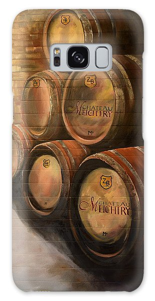 Galaxy Case featuring the painting Wine In The Barrels - Chateau Meichtry by Jan Dappen
