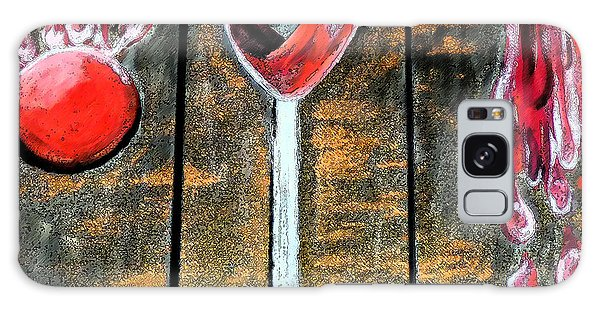 Galaxy Case featuring the painting Wine Out Pour by Janelle Dey