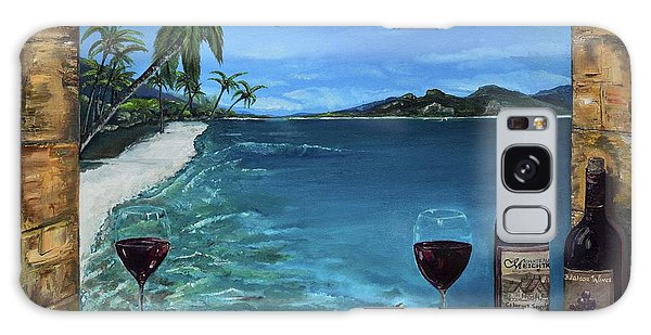 Galaxy Case featuring the painting Wine Thirty - Oceanside by Jan Dappen