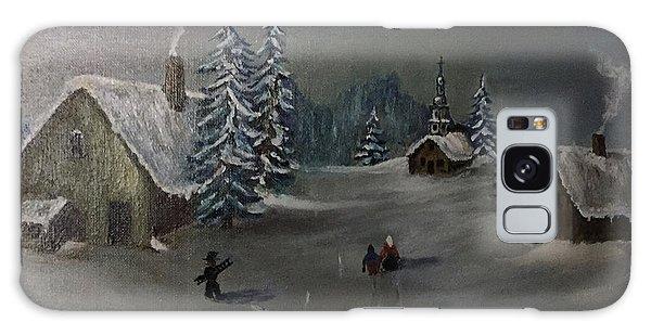 Winter In A German Village Galaxy Case
