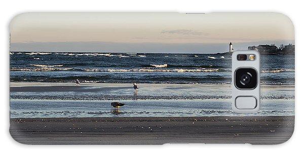 Wingaersheek Beach Seagulls At Sunrise Galaxy Case