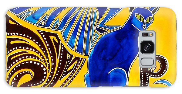 Winged Feline - Cat Art With Letter P By Dora Hathazi Mendes Galaxy Case