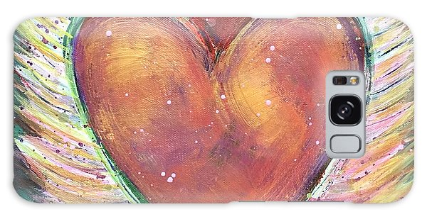Galaxy Case featuring the painting Winged Heart Number 2 by Laurie Maves ART