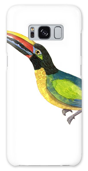 Toucan Galaxy S8 Case - Winged Jewels 2, Watercolor Toucan Rainforest Birds by Audrey Jeanne Roberts