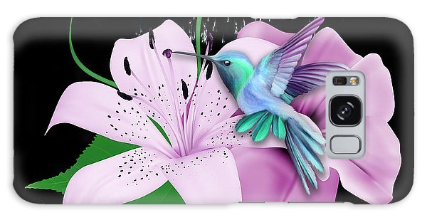 Galaxy Case featuring the mixed media Winging It Hummingbird by Marvin Blaine