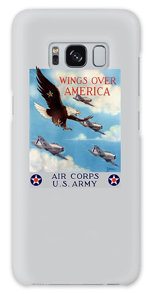 Eagle Galaxy S8 Case - Wings Over America - Air Corps U.s. Army by War Is Hell Store