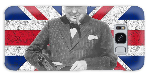 Heroes Galaxy Case - Winston Churchill And His Flag by War Is Hell Store