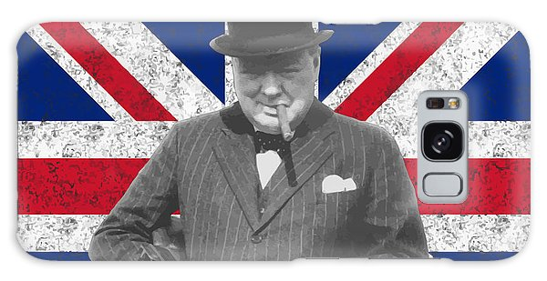 Political Galaxy Case - Winston Churchill And His Flag by War Is Hell Store