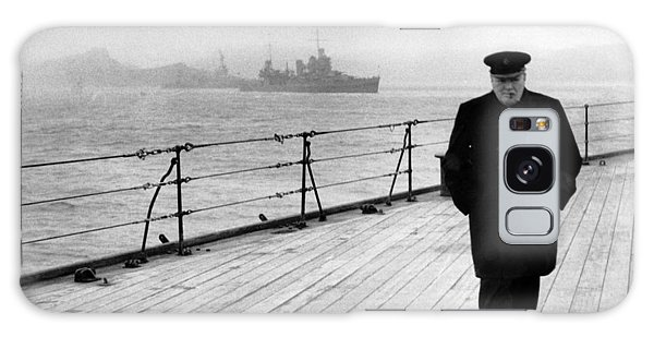Winston Churchill At Sea Galaxy Case