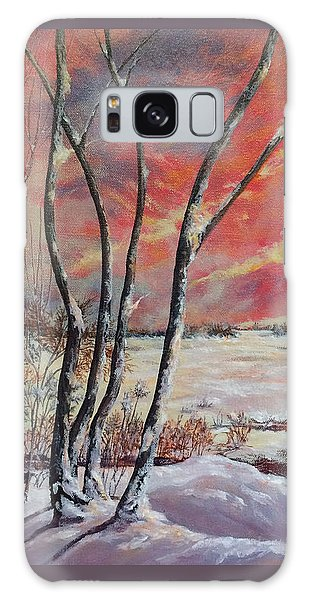 Galaxy Case featuring the painting Winter Across The Lake  by Gail Allen