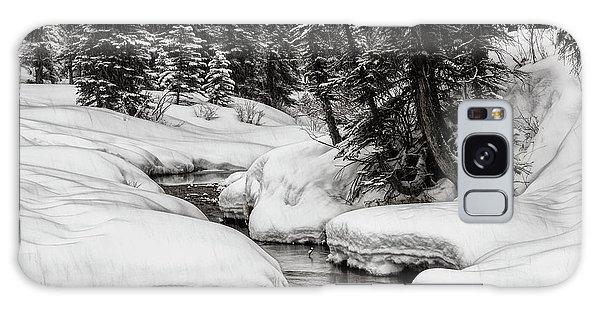 Winter Alpine Creek Galaxy Case