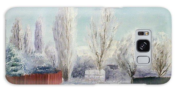 Winter At Bonanza Galaxy Case by Sherril Porter