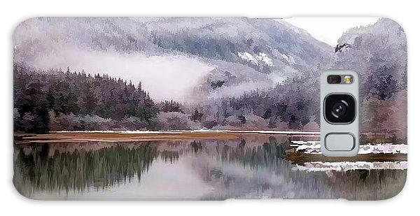 Strange Clouds Galaxy Case - Winter At Diablo Lake by Jeelan Clark