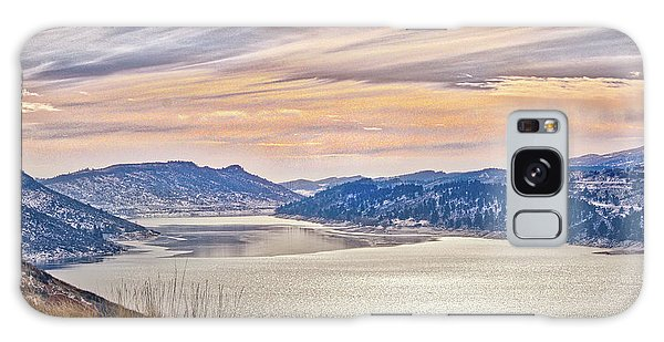Winter At Horsetooth Reservior Galaxy Case