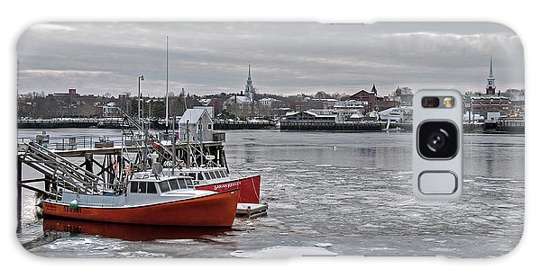 Winter At Newburyport Harbor Galaxy Case