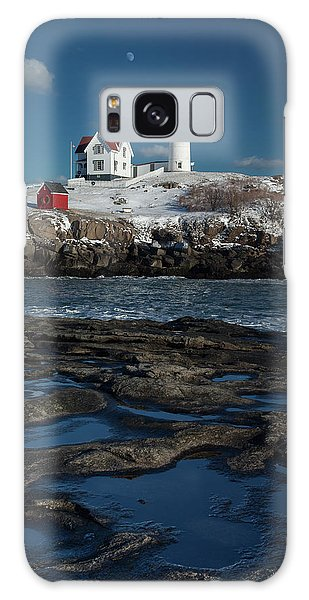 Winter At Nubble Lighthouse Galaxy Case