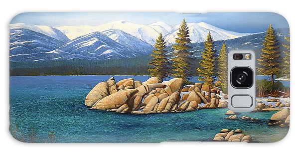 Winter At Sand Harbor Lake Tahoe Galaxy Case