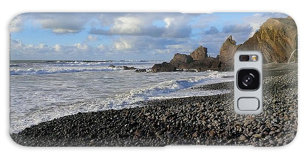 Winter At Sandymouth Galaxy Case