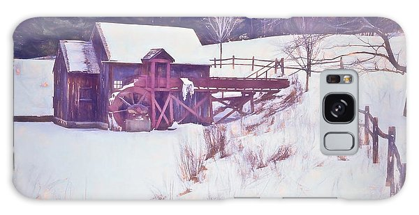 Winter At The Gristmill. Galaxy Case