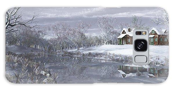 Winter At The Lake Galaxy Case
