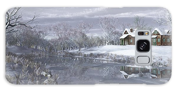Winter At The Lake Galaxy Case by Jayne Wilson