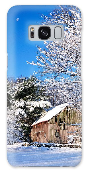 Winter Barn Scene-warren Ct Galaxy Case