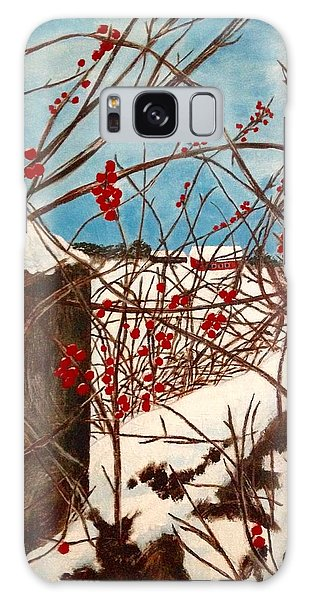 Winter Berries Galaxy Case