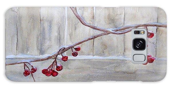 Winter Berries Watercolor Galaxy Case by Susan Lafleur