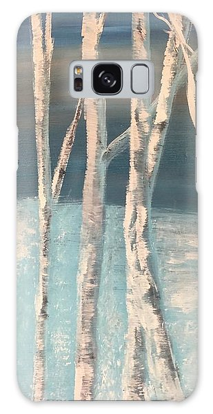 Winter Birches Galaxy Case