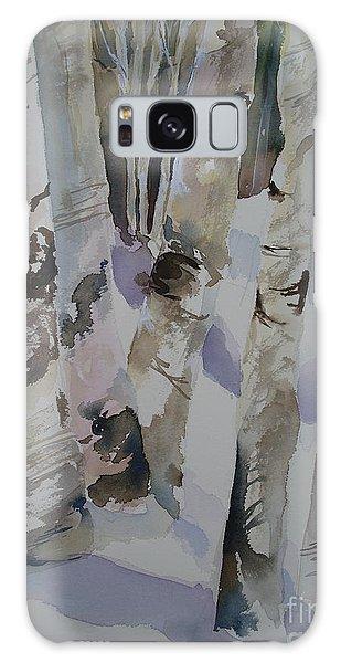 Winter Birches Galaxy Case by Sandra Strohschein