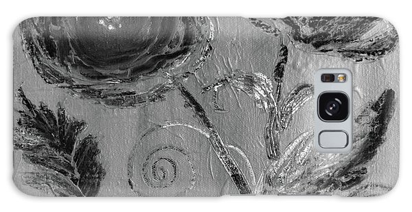 Galaxy Case featuring the digital art Winter Blooms IIi by Robin Maria Pedrero