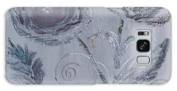 Galaxy Case featuring the painting Winter Blooms by Robin Maria Pedrero