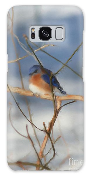 Winter Bluebird Art Galaxy Case