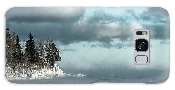 Winter Blues Galaxy Case by Mary Amerman