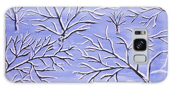 Winter Branches, Painting Galaxy Case