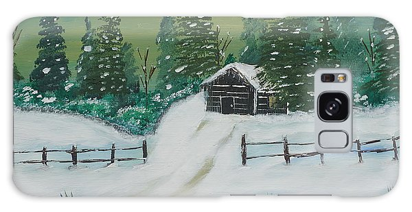 Winter Cabin Galaxy Case