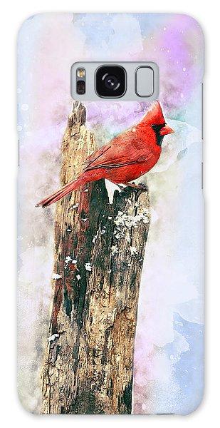 Song Birds Galaxy Case - Winter Cardinal by Andrew Millar