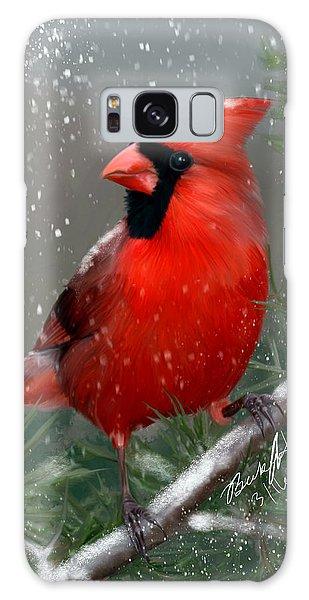 Winter Cardinal Galaxy Case