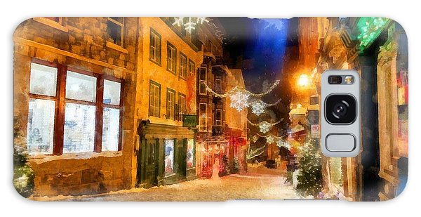 Quebec City Galaxy Case - Winter Carnival Old Quebec City Lower Town by Edward Fielding