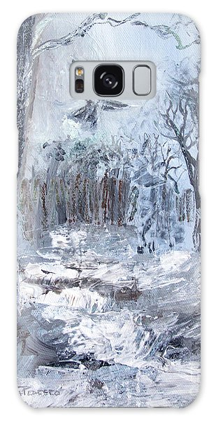 Galaxy Case featuring the painting Winter Caws by Robin Maria Pedrero