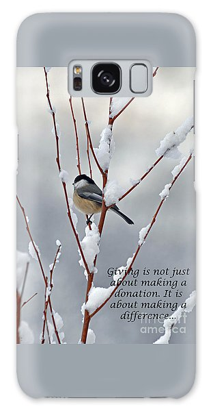 Winter Chickadee Giving Galaxy Case