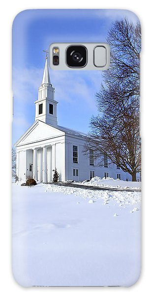Beautiful Galaxy Case - Winter Church by Evelina Kremsdorf