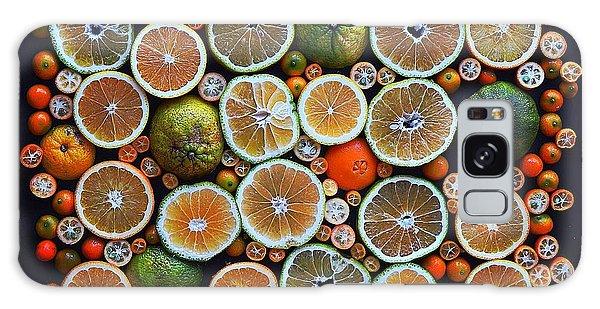 Winter Citrus Mosaic Galaxy Case