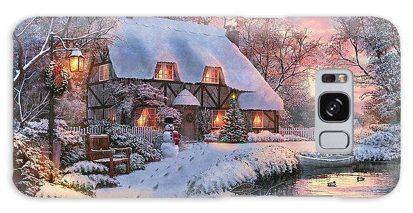 Cottage Galaxy Case - Winter Cottage by 2015, Dominic Davison, Licensed by MGL, www.mgllicensing.com.