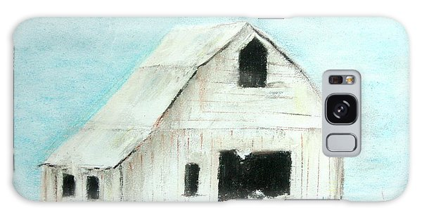 Winter Country Barn Galaxy Case
